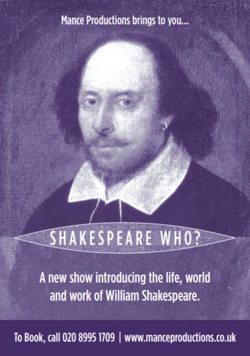 Putting the plays of Shakespeare into context, this is an accessible and entertaining show about the life, world and work of William Shakespeare.Suitable for Primary and Secondary pupils.